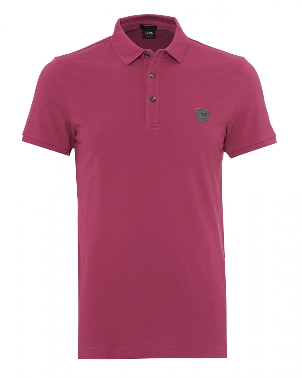 Mens Passenger Polo Shirt, Slim Fit Deep Pink Polo