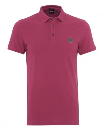 Mens Passenger Polo Shirt, Slim Fit Deep Pink Polo