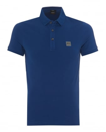 Mens Passenger Polo Shirt, Slim Fit Royal Blue Polo