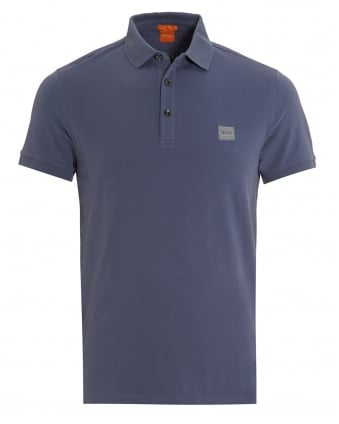 Mens Pavlik Polo, Basic Slim Fit Blue Polo Shirt