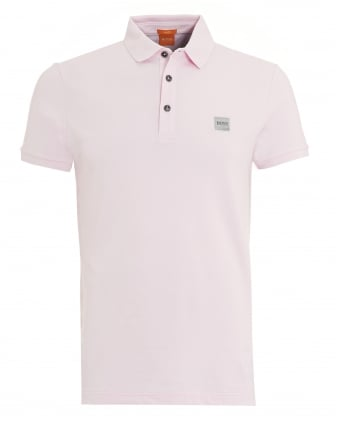 Mens Pavlik Polo, Basic Slim Fit Light Pink Polo Shirt
