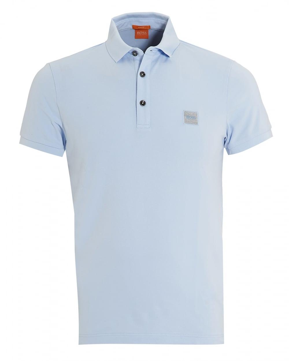Mens Pavlik Polo, Basic Slim Fit Light Sky Blue Polo Shirt