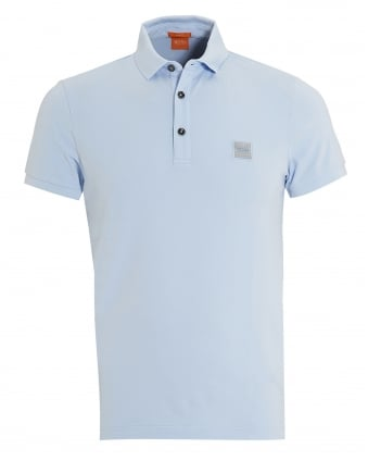 Mens Pavlik Polo, Basic Slim Fit Light Sky Blue Polo Shirt