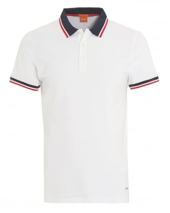 Mens Pay Polo, Section Slim Fit White Polo Shirt
