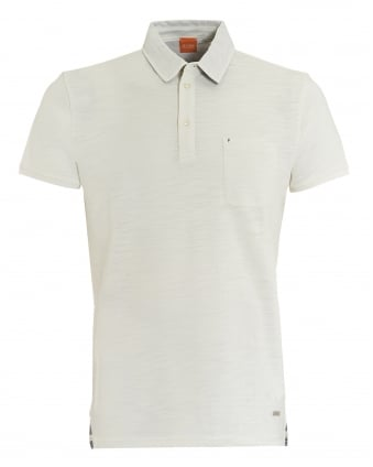 Mens Plainer Polo, Chest Pocket White Polo Shirt