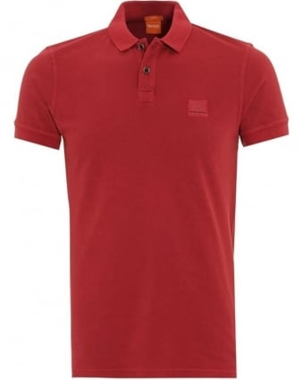 Mens Polo Shirt Pascha Slim Fit Red Polo