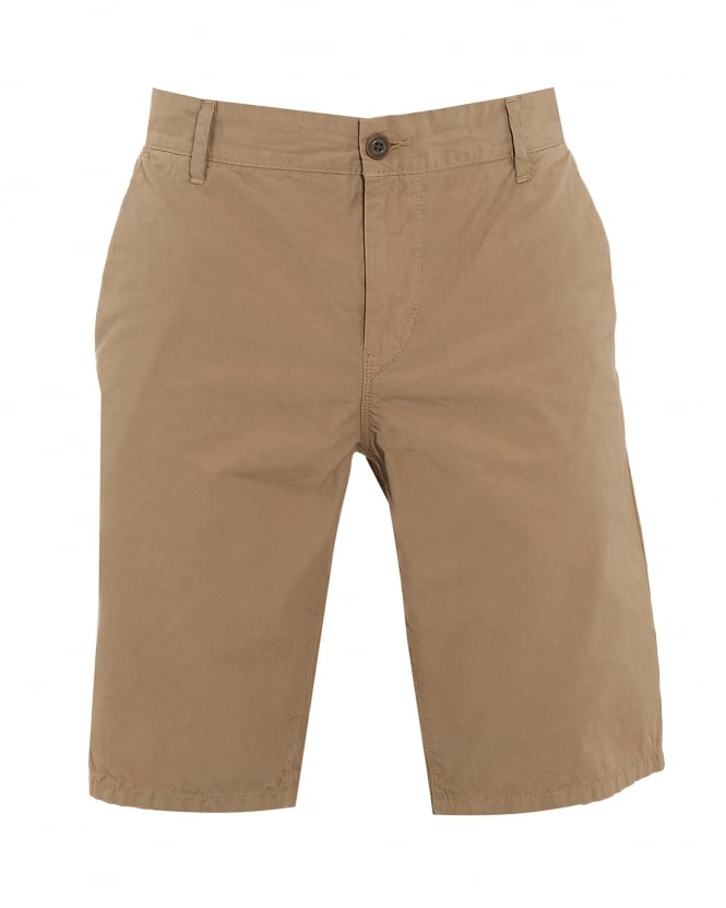 Hugo Boss Orange Mens Sairy Short, Beige Cotton Chino Shorts