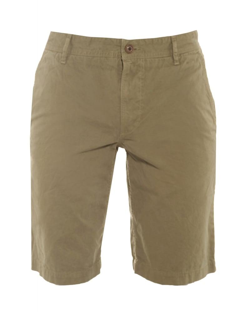 Mens Schino Chino Shorts, Olive Regular Fit Short