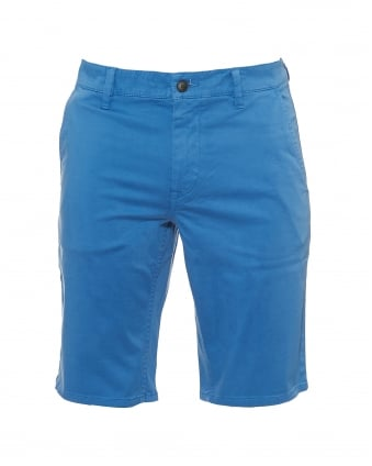 Mens Schino Shorts, Slim Fit Blue Chino Short