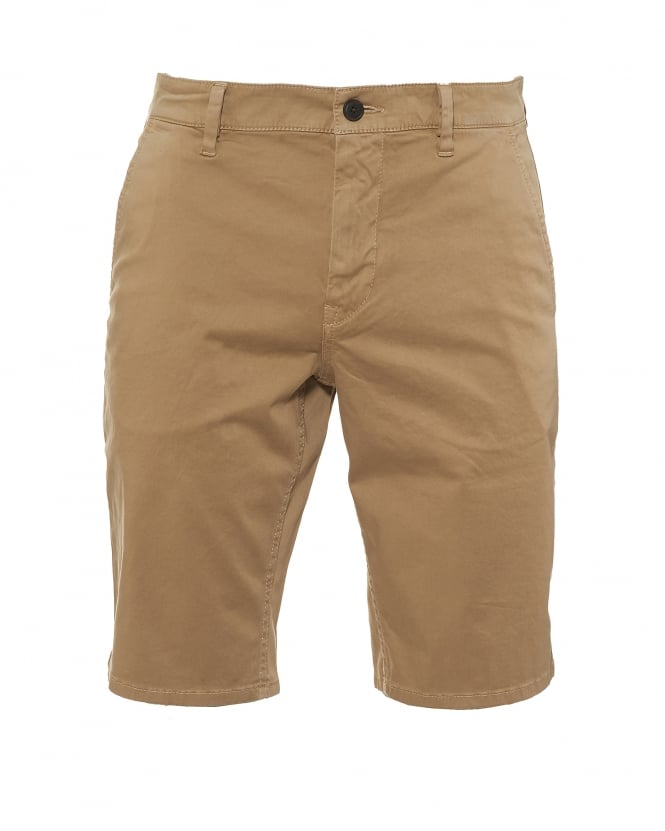 Hugo Boss Orange Mens Schino Shorts, Slim Fit Navy Beige Short