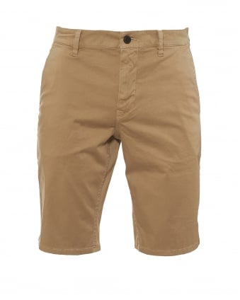 Mens Schino Shorts, Slim Fit Navy Beige Short