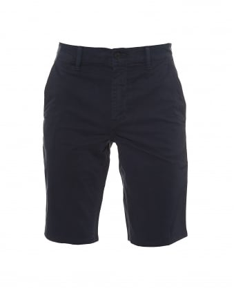Mens Schino Shorts, Slim Fit Navy Blue Chino Short