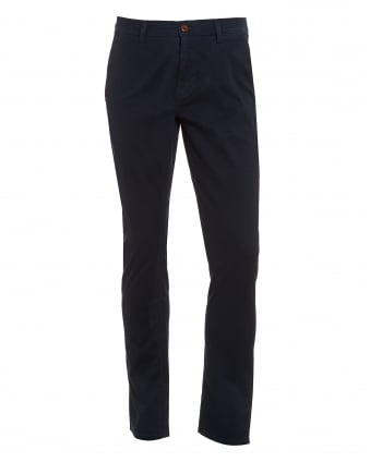 Mens Schino-Slender-D Chino, Slim Fit Twill Navy Chinos