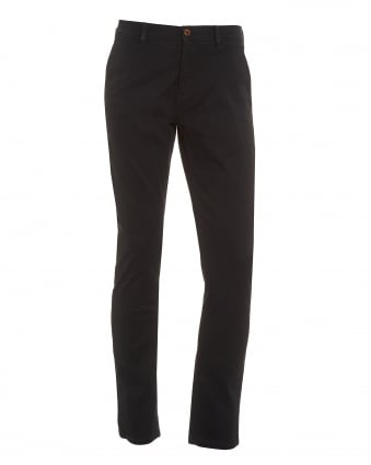 Mens Schino Slender D Trousers, Black Slim Fit Chinos