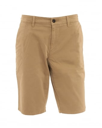 Mens Schino-Slim-Shorts-D Slim Fit Chino Beige Shorts
