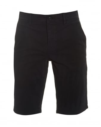 Mens Schino-Slim-Shorts-D Slim Fit Chino Black Shorts
