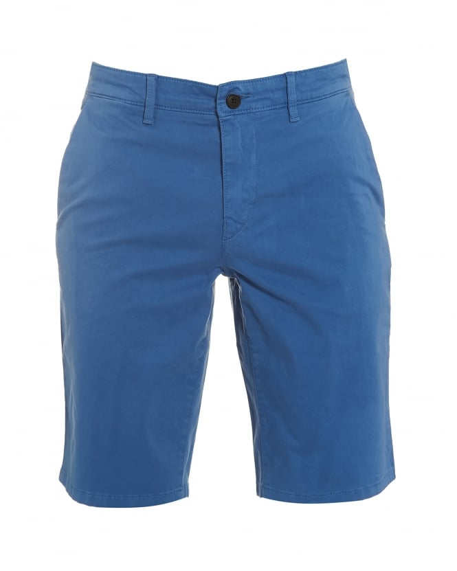 Hugo Boss Orange Mens Schino-Slim-Shorts-D Slim Fit Chino Blue Shorts