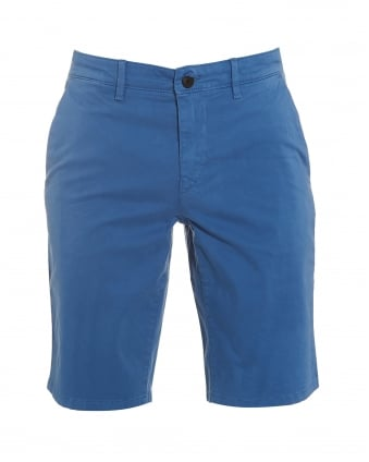Mens Schino-Slim-Shorts-D Slim Fit Chino Blue Shorts
