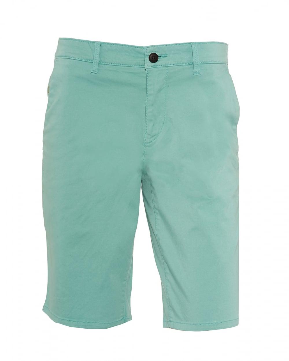 Mens Schino-Slim-Shorts-D Slim Fit Chino Mint Green Shorts