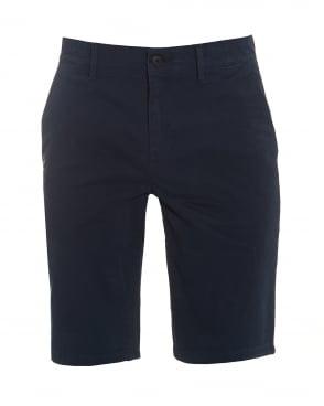 Mens Schino-Slim-Shorts-D Slim Fit Chino Navy Shorts