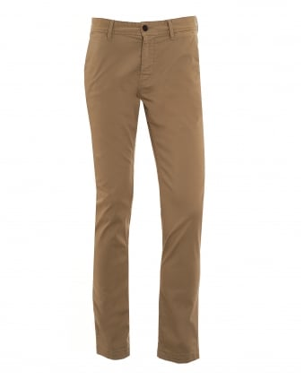 Mens Schino-Slim1-D Chino, Beige Slim Fit Trouser