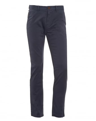 Mens Schino-Slim1-D Chino, Dark Blue Slim Fit Trouser