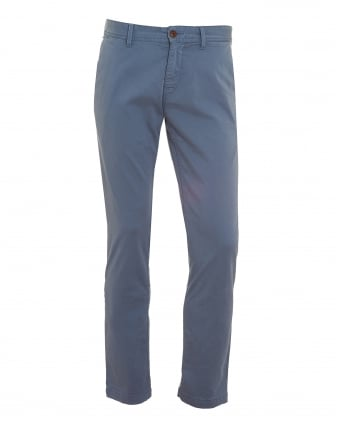 Mens Schino-Slim1-D Chinos, Slim Stretch Cotton Blue Trousers