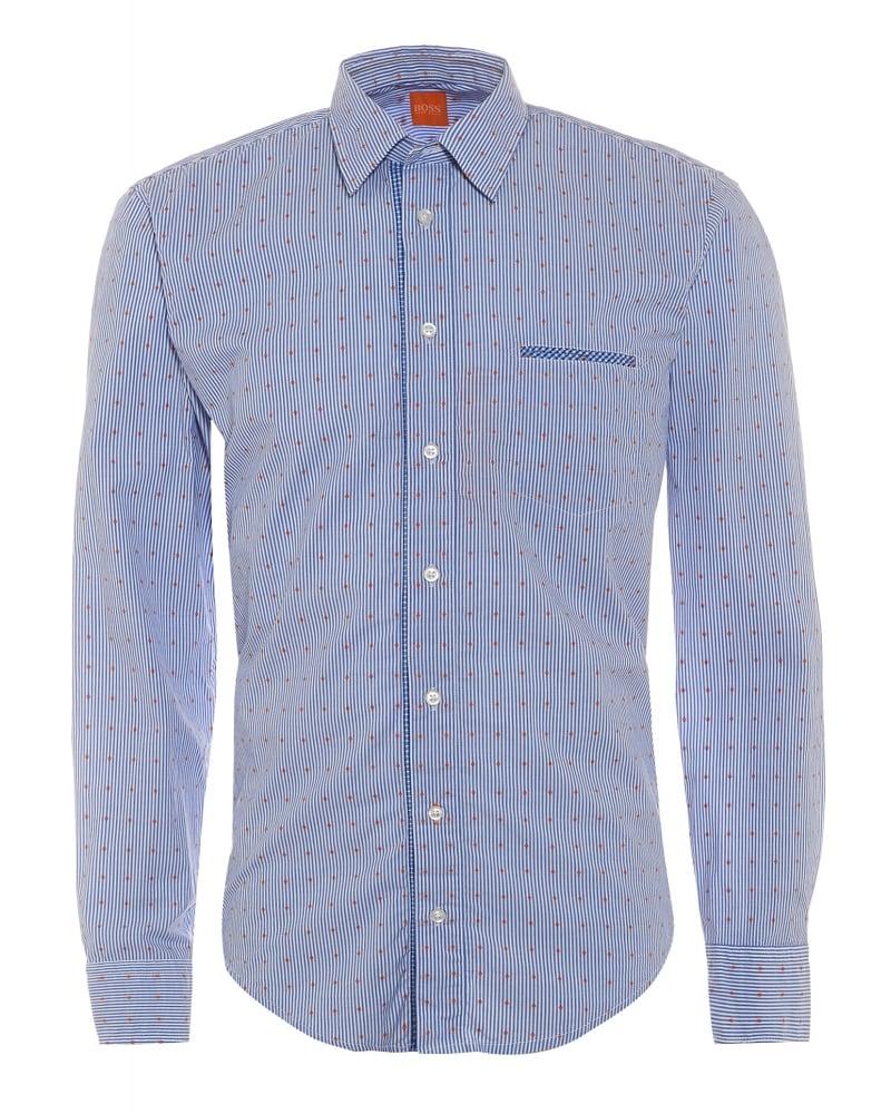 Mens Shirt CieloebuE Blue Diamond Shirt