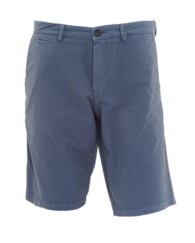 BOSS Casual Mens Slim4-Shorts-D-EOSP Stripe Cotton Grey Shorts