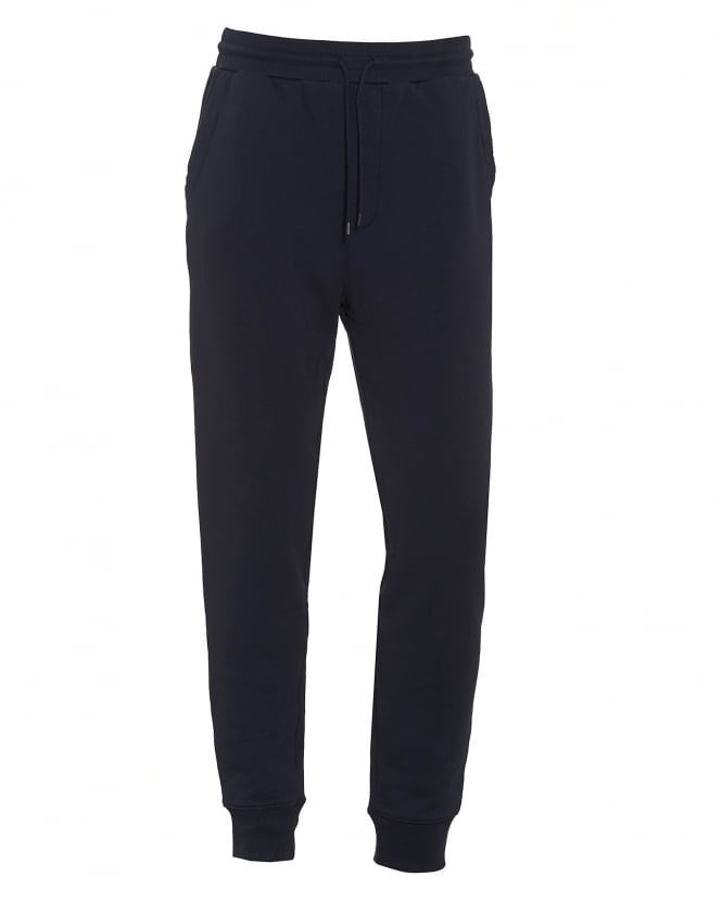 Hugo Boss Orange Mens South Cuffed Navy Blue Trackpant