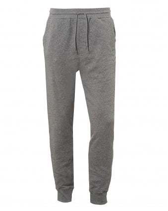 Mens South UK Cuffed Trackpants, Drawstring Grey Melange Sweatpants