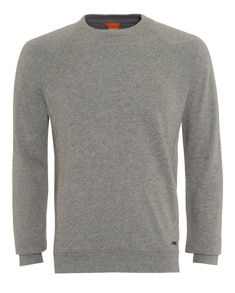 Mens Sweater, Wheel Slim Fit Grey Track Top