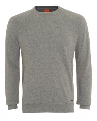 Mens Sweater, Wheel Slim Fit Grey Track Top