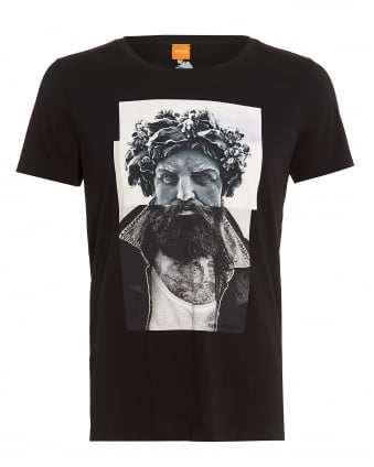 Mens Taxable 2 T-Shirt, Greek God Black Tee