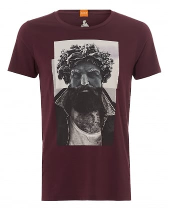 Mens Taxable 2 T-Shirt, Greek God Burgundy Tee