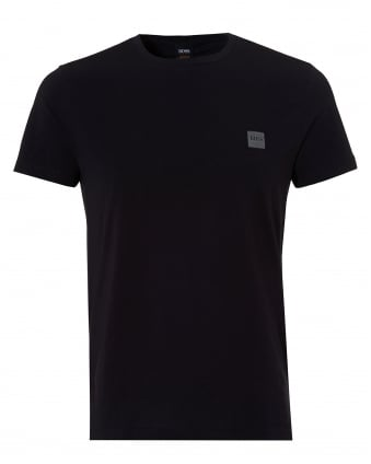 Mens Tommi Basic Logo T Shirt, Black Short Sleeve Tee