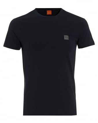 Mens Tommi T-Shirt, Chest Logo Navy Blue Tee