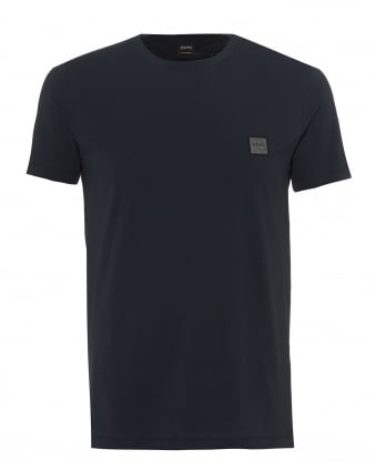 Mens Tommi T-Shirt, Chest Patch Basic Navy Blue Tee