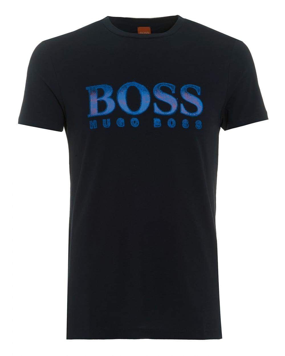 Hugo boss orange mens turbulence 2 t shirt large logo for Boss mens t shirts