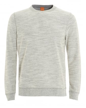 Mens Woice Jumper, Natural Grey Reversible Sweater
