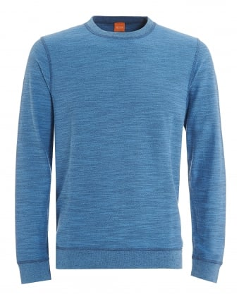 Mens Woice Jumper, Open Blue Reversible Sweater