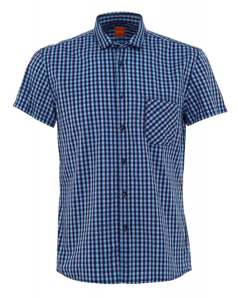 Shirt, Navy And Sky Check Regular Fit 'Ezippoe ...