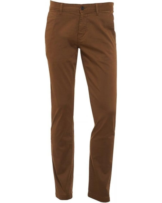 Hugo Boss Orange Slim Fit Chinos Brown Schino-Slim1-D Chino