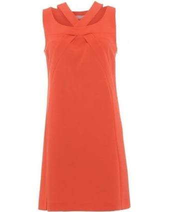 Coral Sleeveless Shift 'Duello' Dress