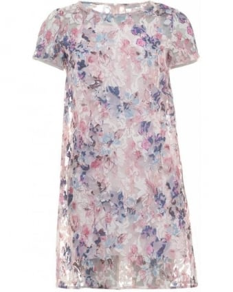 Pink Multi Floral Shift 'Xavier' Dress