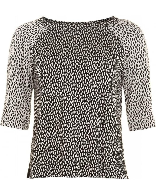 I Blues 'Trevi' Animal Print Raglan Top