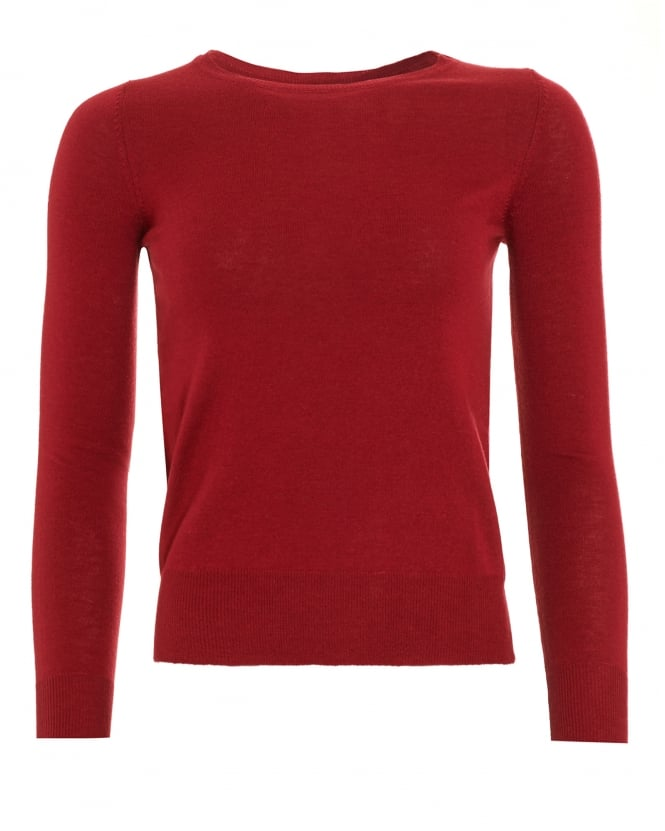 I Blues Womens Bacon Boat Neck Bordeaux Red Jumper