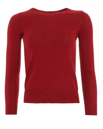 Womens Bacon Boat Neck Bordeaux Red Jumper