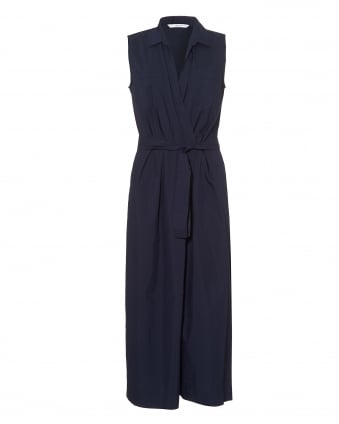 Womens Fify Cropped Wide Leg Midnight Blue Jumpsuit