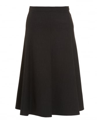 Womens Idillio Skirt, Black Jersey Circle Skater Skirt